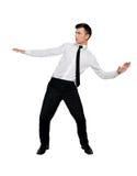 Position des Geschäftsmann-Tricks Lizenzfreie Stockbilder