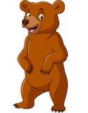 Position drôle d'ours de bande dessinée illustration libre de droits