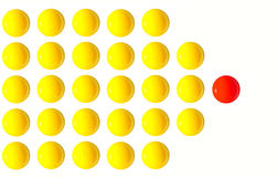 Position du jaune d'oeuf de chef un du Président de foule Photographie stock libre de droits