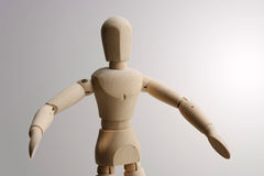 Position en bois de marionnette photographie stock libre de droits