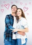 Position et sourire de couples Images libres de droits