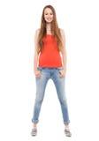 Position femelle d'adolescent Image stock