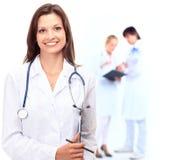 Position femelle de docteur Image stock