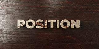 Position - grungy wooden headline on Maple  - 3D rendered royalty free stock image. This image can be used for an online website banner ad or a print postcard Royalty Free Stock Image