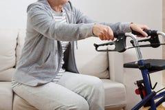 Position handicapée  image stock