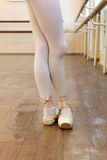 The position of the legs of a ballerina Stock Photography