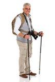 Position masculine de touriste Photo stock