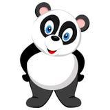 Position mignonne de panda de vecteur Photographie stock