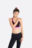 Position modèle de femme asiatique de forme physique Photos libres de droits