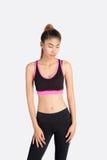 Position modèle de femme asiatique de forme physique Photos stock