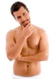 position musculaire d'homme images libres de droits