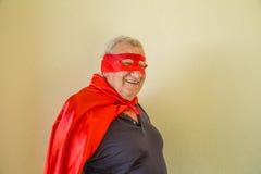 Position pluse âgé de super héros Photos stock