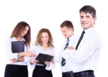 Position réussie d'homme d'affaires Image stock