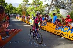 Position solitaire de cycliste Photo libre de droits