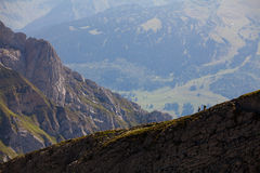 Position suisse d'alpes de la crête de Säntis Photo libre de droits