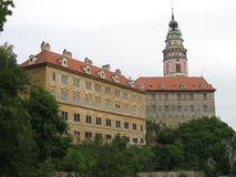 Position tchèque de château de Krumlov Image libre de droits