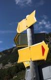 Position vide de signe Image libre de droits