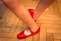 Positionen nummer fem i dans arkivbild