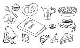 Positionnement à cuire et de cuisson Image stock