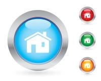 positionnement à la maison d'Internet de bouton Image stock