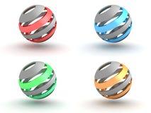 Positionnement élégant de sphère de logo illustration stock