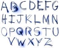 Positionnement au néon d'alphabet Images libres de droits