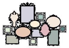 Positionnement blanc de cadre de tableau Photo stock