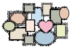 Positionnement blanc de cadre de tableau, vecteur Image libre de droits