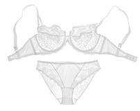 Positionnement blanc de lingerie Photos stock