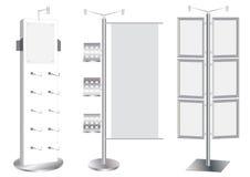 Positionnement blanc de stand de promotion. Illustration de Vecteur