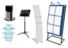 Positionnement blanc de stand de promotion. Illustration Libre de Droits