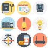Positionnement campant de graphisme Images stock