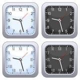 Positionnement carré d'horloge de mur Photos stock