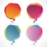 Positionnement coloré de bulle de la parole Photos stock