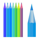 Positionnement coloré de crayon Image stock