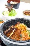 Positionnement coréen de nourriture photo stock