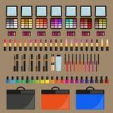 positionnement décoratif de produits de beauté Photos stock