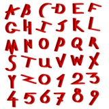 Positionnement décoratif de vecteur d'alphabet Images stock