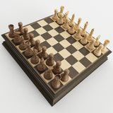 Positionnement d'échecs Photo libre de droits