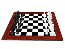 positionnement d'échecs 3D Images libres de droits