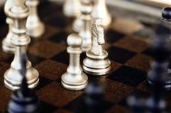 Positionnement d'échecs Images libres de droits