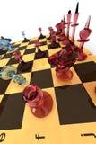 Positionnement d'échecs en verre Photo libre de droits