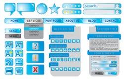 Positionnement d'élément de Web Image stock