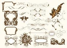 Positionnement d'éléments calligraphique de vecteur illustration de vecteur