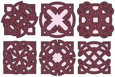 Positionnement d'éléments celtique de conception Images libres de droits