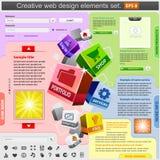 Positionnement d'éléments créateur de conception de Web. illustration stock