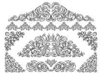 Positionnement d'éléments décoratif illustration de vecteur