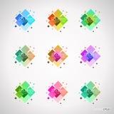 positionnement d'éléments de conception de couleur Photos libres de droits