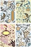 Positionnement d'éléments de conception florale illustration stock
