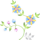 Positionnement d'éléments floral de décor Image libre de droits